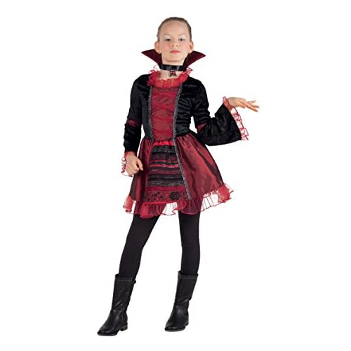 Boland- Costume Bambina Vampire Empress, Rosso/Nero, 4-6 anni, 78054