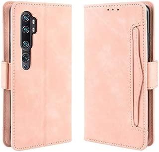 Xiaomi Mi Note 10 ケース 手帳型 Mi Note10 Pro カバー 財布型 Mi CC9 Pro サイトマグネット カードポケット 横置き機能 超高の収納 高級PUレザー 耐衝撃 Xiaomi Mi Note10/Mi Note10 Pro/Mi CC9 Proに対応 ピンク Ayakumo -15fbm-