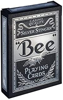 Bee Silver Stinger Playing Cards Limited Edition Poker Collectable Deck by USPCC