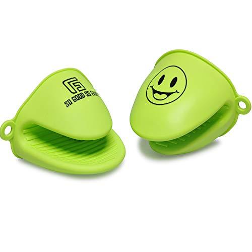 SO GOOD SO FAIR- Topfhandschuhe- Topflappen Silikon – Ofenhandschuh – Topflappen Handschuh – Ofenhandschuhe – für Küche Kochen Backen. (grün)