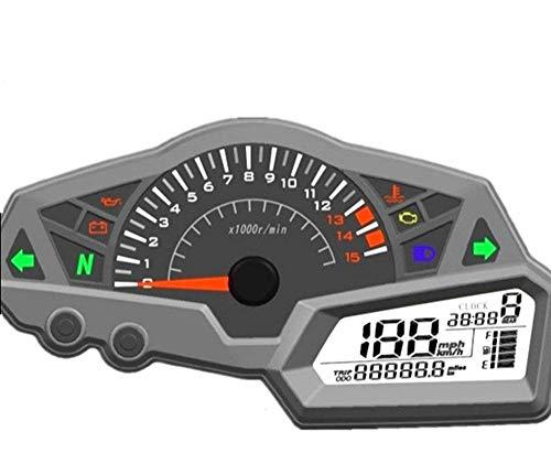 SAMDO Universal Motorcycle Speedometer 6 Gear LCD Odometer Tachometer Motorcycle Gauge 0-199km/h