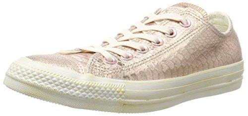 Converse Damen All Star Snake Sneaker, Mehrfarbig (Rosegold Metallic Reptile), 37.5 EU