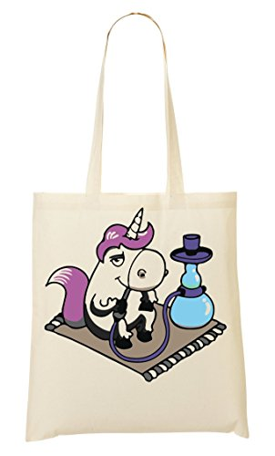 C+P Stoned Unicorn Enjoys His Shisha Tragetasche Einkaufstasche