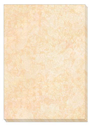 25 Blatt Vintage Briefpapier im DIN A4 Format - 130g Altes Papier Vintage