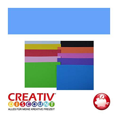CREATIV DISCOUNT® NEU Moosgummiplatte, 29 x 20mm, 1 STK., Hellblau