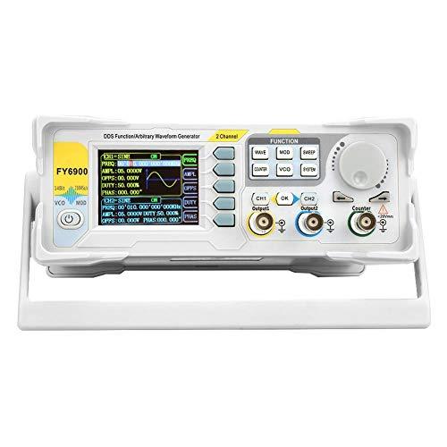 Generador de señal, FY6900-60M 60MHz 2.4 pulgadas TFT Digital DDS Multifuncional Contador de forma de onda Medidor de frecuencia Generadores de fuente de pulso AM/PM/FM/ASK/FSK/PSK Modulación(UE)