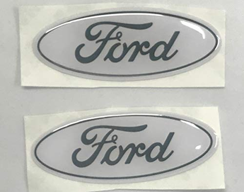 Sparkoo F-57W 2X White Steering Wheel Logo Emblem Badge Overlay Decal For Ford F-150 F-250 F-350 (0.875in x 2.25in) (White)