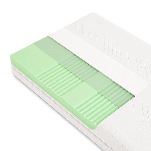 Schlummerparadies® hochwertige Matratze 7-Zonen HR-Kaltschaummatratze - Made in Germany - ca. 19cm Gesamthöhe, RG40, geprüfter Kern + Bezug - Optima Klassik (200x200cm, H3)