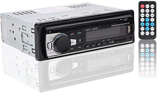 Autoradio Bluetooth, RIXOW FM Radio de Coche, Manos Libres Estéreo de Coche, Apoyo de Reproductor MP3, Llamadas Manos Libres, Función de Radio y de Archivo.