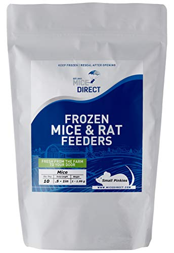 MiceDirect: Small Pinkie Mice: 10 Pack of Frozen Small Pinkie