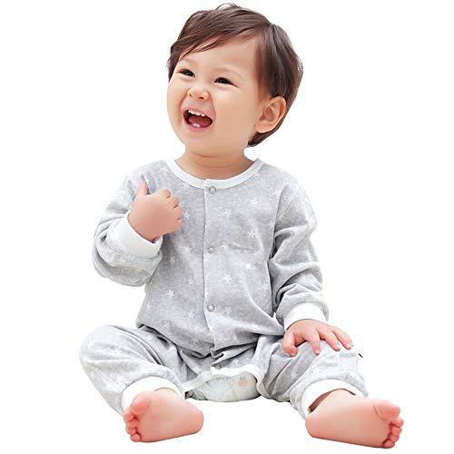 HS-01 Baby slaapzakken, 6-9 maanden, comfortabele slaapzak voor overnachting, katoenen baby slaapzak (roze, blauw) Grijs