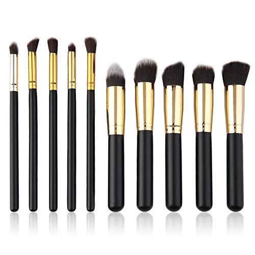 ArgoDBar 10 pcs Maquillages Brosse Ensemble Comestic Brosses Professionnel Cosmétique Outils Maquillage Brosses Facile à Coller Poudre