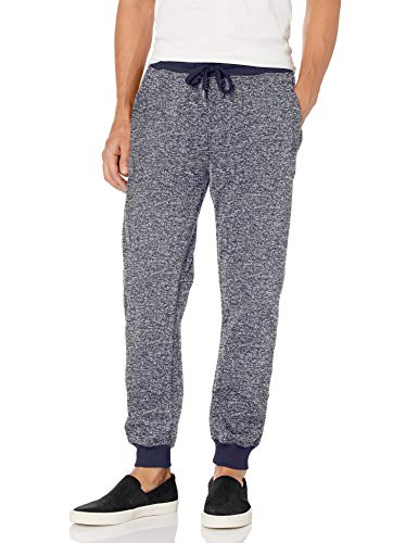 Southpole Men's Basic Fleece Marled Jogger Pant-Reg and Big & Tall Sizes, Navy, Small