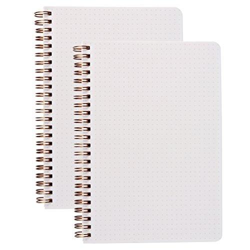 (2er-Pack) A5 Dot Grid Notizbuch 100gsm Bullet Spiral Journal 14.5x21cm - 80 Blätter pro Buch, dickes gepunktetes Papier, drahtgebunden