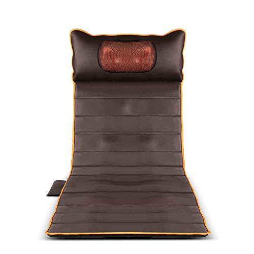 Massagegeräte Ganzkörpermassagegerät Matratze mit Wärme und 15 Vibrationsmotoren für die punktgenaue Massage des oberen/unteren Rückens der Lendenwirbelsäule