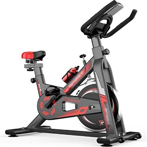 YHRJ Bicicletas estáticas de Gimnasio con medidores electrónicos,Bicicleta de Spinning Deportiva casera,Equipo de Fitness Ajustable,Puede soportar 120 kg (Color : Black, Size : 100 * 50 * 100-110cm)