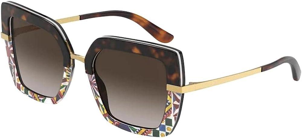Dolce & gabbana, occhiali da sole per donna, montatura in acetato, con  fantasia leopardata HALF PRINT DG 4373