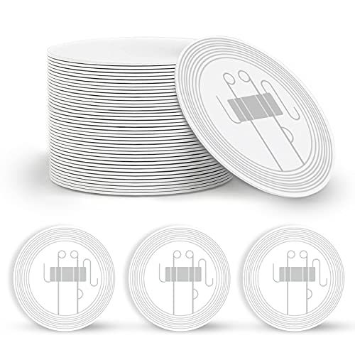 25pcs Round 35mm NFC Tags Blank NTAG215 NFC Coins(1.37 inch) Cards, 504 Bytes programmable NFC Chip Tags,iPhone NFC Tags,Work with TagMo and Amiibo for All NFC-Enabled Smartphones and Devices