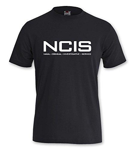 T-Shirt NCIS Shirt Navy CIS Kult Serie Tv Kult (M, Schwarz)