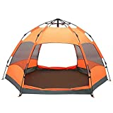 MERRYHE Outdoor Camping Double Hexagonal Beach Automatic Tent 6-9 People Pop Up Tents