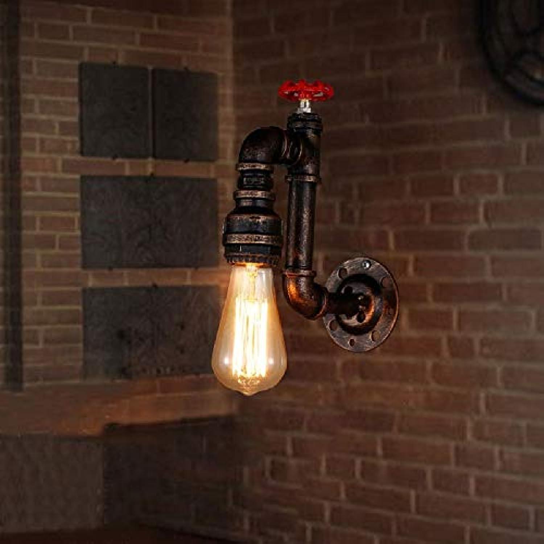 HDZWW Vintage Wandleuchte Retro Wasserleitung Eisen Einzelkopf Wandleuchte Bar Arbeitet Explosionsgeschützte Beleuchtung Mini Drahtkfig Wandleuchte E27 Basis Hohe Helligkeit
