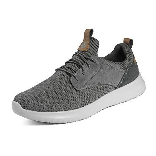 Bruno Marc Men's Slip On Walking Shoes Sneakers Walk-Work-01 Grey Size 12 M US