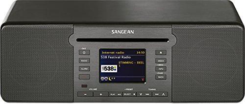 Sangean DDR-66 BT All-In-One-Musiksystem (Internet Radio, Bluetooth, WiFi, DAB+, Spotify-Player, CD, USB, SD, UKW-RDS, AUX-In, Fernbedienung) schwarz