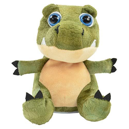 Kögler 75946 - Laber Dino Babytooth, Labertier mit Aufnahme- und Wiedergabefunktion, plappert alles witzig nach und bewegt sich, ca. 20 cm groß, ideal als Geschenk für Jungen und Mädchen