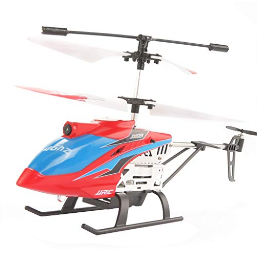 Fine Mini Drone for Kids, RC Helicopter, Sturdy Alloy Material, Gyro Stabilizer and High &Low Speed, Multi-Protection Drone for Kids and Beginners to Play Indoor-Toy Gift (Red)
