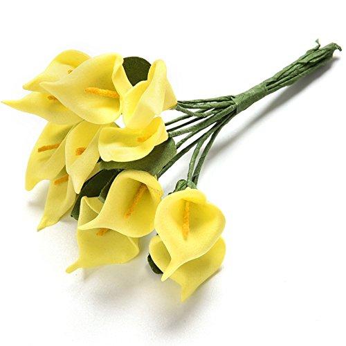 Calas artificiales, 12 piezas por juego, ramo de flores artificiales d
