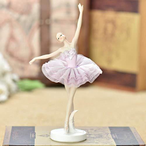 Hars Danser Ballet Meisjes Engel Meisje Miniatuur Ornamenten Huis Bureau Taart Boekenplank Decor Decoratie Frame Geschenken Beeldjes Ambachten, C