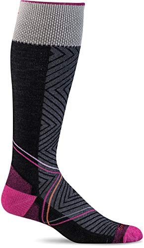 Sockwell Women's Pulse Graduated Compression Socks, Medium/Large, Black