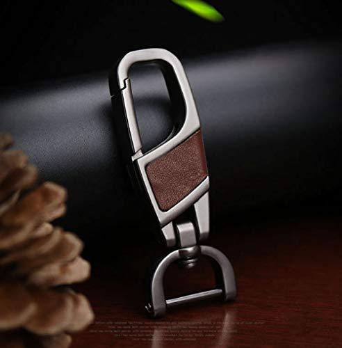LINGZIA Cubierta de la Caja de la Llave del Coche, Smart Remote de Cuero Genuino, para Audi B6 B7 B8 A4 A5 A6 A7 A8 Q5 Q7 R8 TT S5 S6 S7 S8 Bolsa de Carcasa de Llave para Audi, Llavero marrón