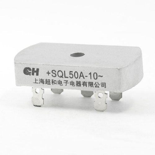 DealMux SQL50A-10 1KV 50A trifásico puente rectificador de media onda tono de plata