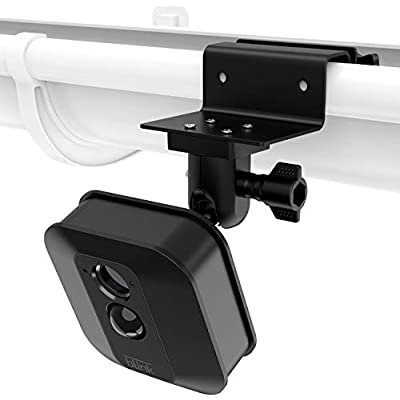 Weatherproof 360 Degree Protective Adjustable Outdoor,Greater Height for Blink XT Accessorie HOLACA Weatherproof Gutter Mount Compatible with Blink XT Blink XT2