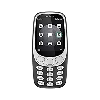 NOKIA 3310 3G - Unlocked Single SIM Feature Phone  AT&T/T-Mobile/MetroPCS/Cricket/Mint  - 2.4 Inch Screen - Charcoal