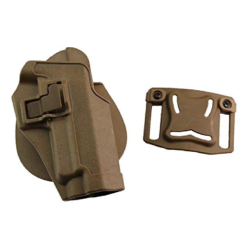 BGJ Pistolera de Pistola de Mano Derecha de Caza para Glock17 19 / USP/Colt 1911 / M9 / Sig P226 Funda de Entrenamiento de Combate táctico Airsoft