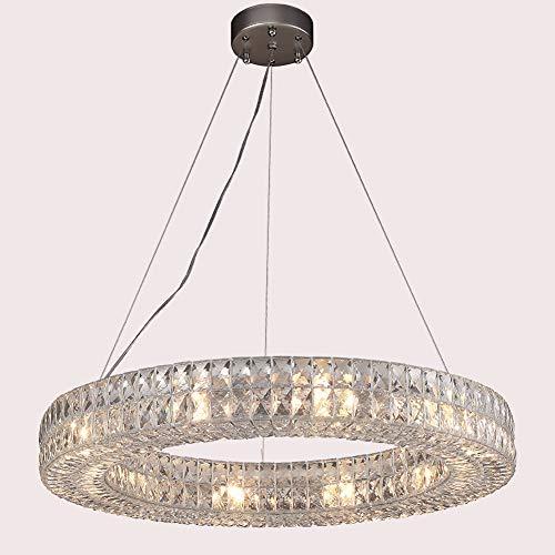 Xiqan Kristall Nimbus Ring Kronleuchter Moderne Moderne Beleuchtung Anhänger Aufbauleuchten
