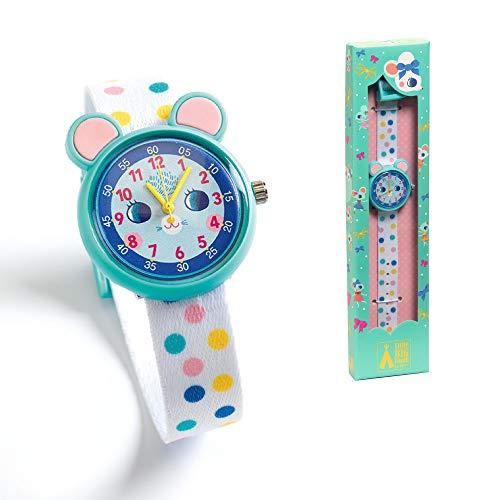 DJECO ジェコ ウォッチ マウス 【DD00426】 子ども用 時計 腕時計 ウォッチ ネズミ 耳 ブルー 女の子 男の子 2歳 かわいい おしゃれ 北欧 プレゼント 誕生日 クリスマス お祝い