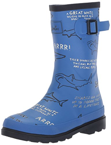 Joules Baby-Boy's JNRBOYSWLY Rain Boot, Blue Shark Facts, 4 Medium US Infant