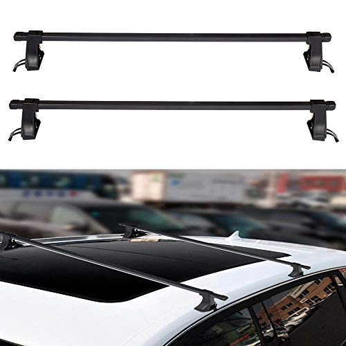 ECCPP 48' Roof Rack Crossbars Compatible with Toyota FJ Cruiser 2007-2011,for Toyota Highlander 2001-2003 2006-2007 Rooftop Luggage Canoe Kayak Carrier Rack - Max Load 100LBS Kayak Rack Accessories
