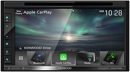 Kenwood DDX6706S 6.8' Double DIN DVD/CD receiver with Bluetooth | Apple CarPlay & Android Auto Ready | Clear Resistive Touch Panel