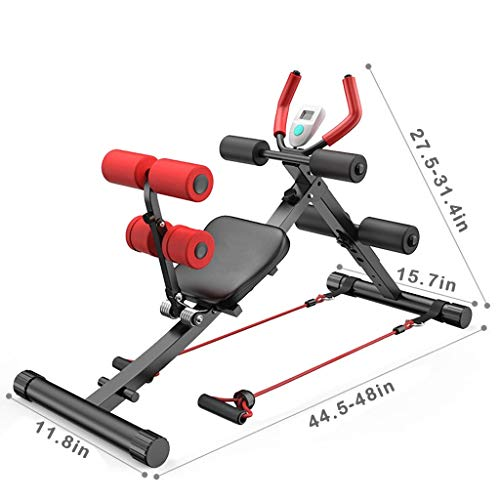 Kusou Adjustable Benches 2-in-1 Abdominal Crunch Machine Sit Up Bench Core Trainer Fitness Home Workout Gym Strength Training Equipment
