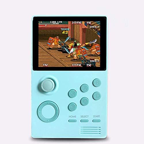 KaiKai Handheld-Spiele, Spiele-Konsolen, Pandoras Box Supretro Handspiel-Konsole IPS-Schirm Built-In 3000 + Spiele 30 3D-Spiele WiFi Download-Blau
