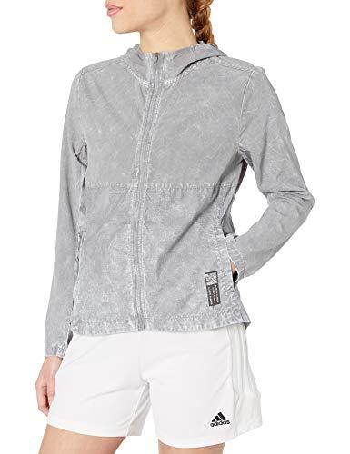 adidas Own The Run Wind Jacket HD W Chaqueta, Gris, Small para Mujer