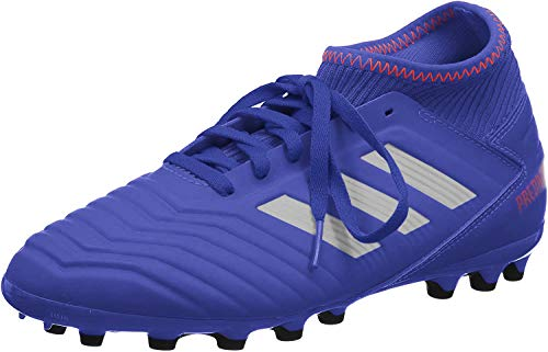 Adidas Predator 19.3 AG J, Botas de fútbol Unisex niño, Multicolor (Azufue/Plamet/Rojact 000), 28.5 EU
