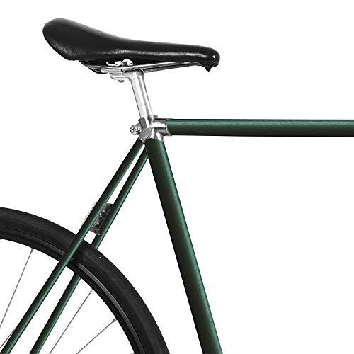 MOOXIBIKE Racing Green Matt metallic Fahrradfolie für Rennrad, MTB, Trekkingrad, Fixie, Hollandrad, Citybike, Scooter, Rollator für circa 13 cm Rahmenumfang