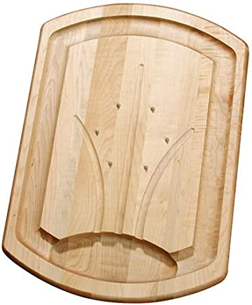 (withspikes) - J.K. Adams 20-Inch-by-14-Inch Maple Wood Carving Board with Spikes (TCB-2014-S)