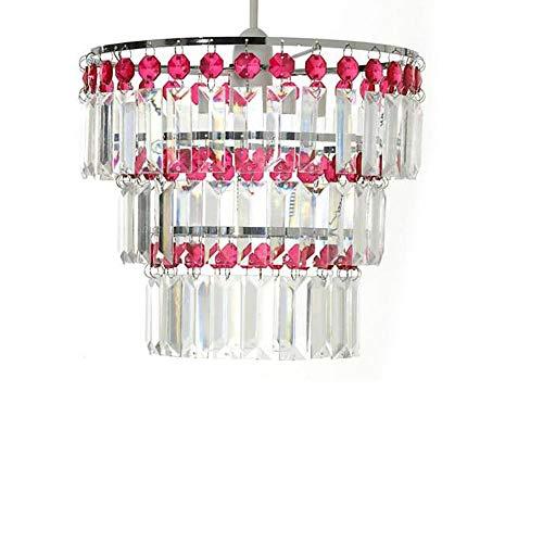 Kronleuchter Moderner Stil Decke Pendelleuchte Schatten Acryl Crystal Droplet Bead-Zoe_Red Pendelleuchte