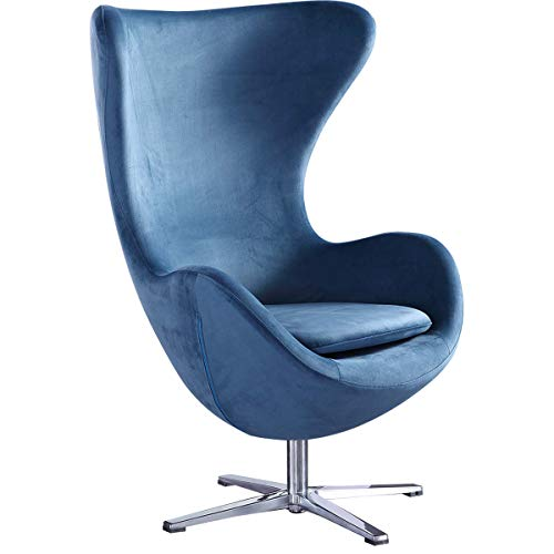 Feelcomfort Ohrensessel Taby - Graublau Relaxsessel Fernsehsessel